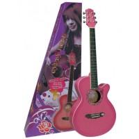 Valencia Akustik Gitar Gypsy Rose Set (PEMBE)