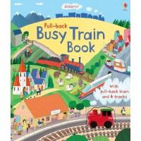 Pull-back busy train book Usborne